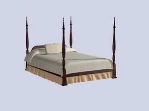 Traditional Furniture 006 -beds  20 (max) 3D Model