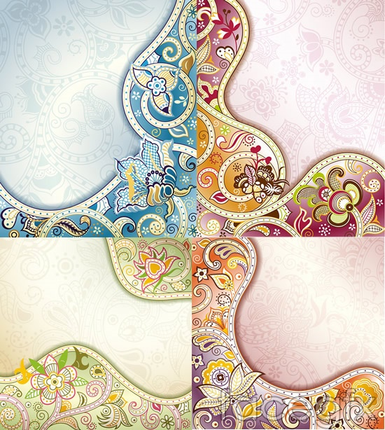 Traditional patterned background vector
