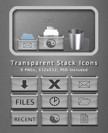 Transparent Stack Icons