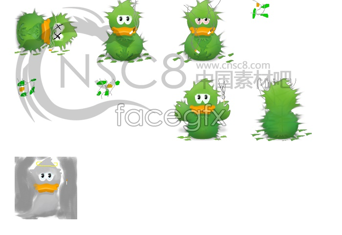 Tree duck icons