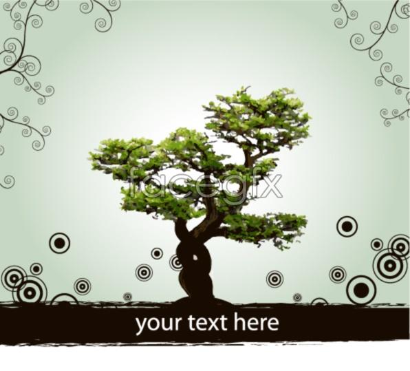 Tree pattern dots vector