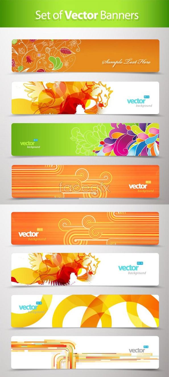 Trend flower banner Vector