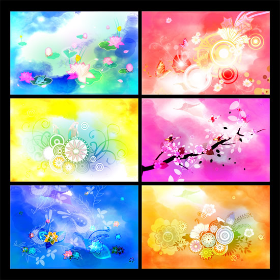 Trends colorful flower background PSD