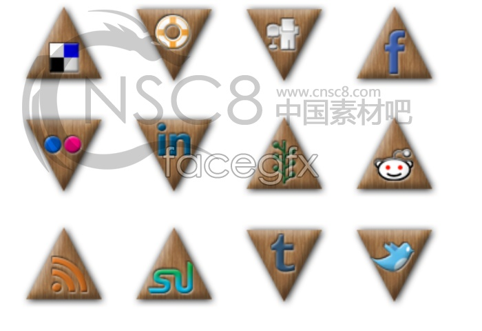 Triangular desktop icons