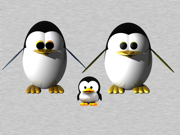 Tux Dad and Tux Mum Preview