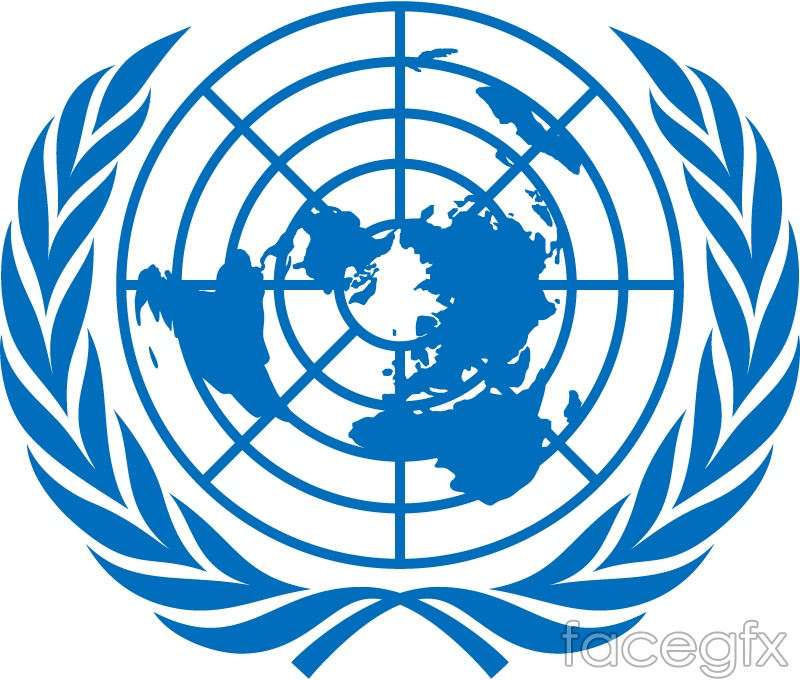 Un flag the coat of arms of the united nations logo vector over un flag the coat of arms of the united nations logo vector toneelgroepblik Images