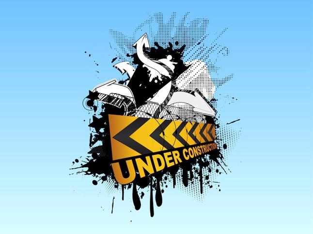 Under Construction Graffiti vector free