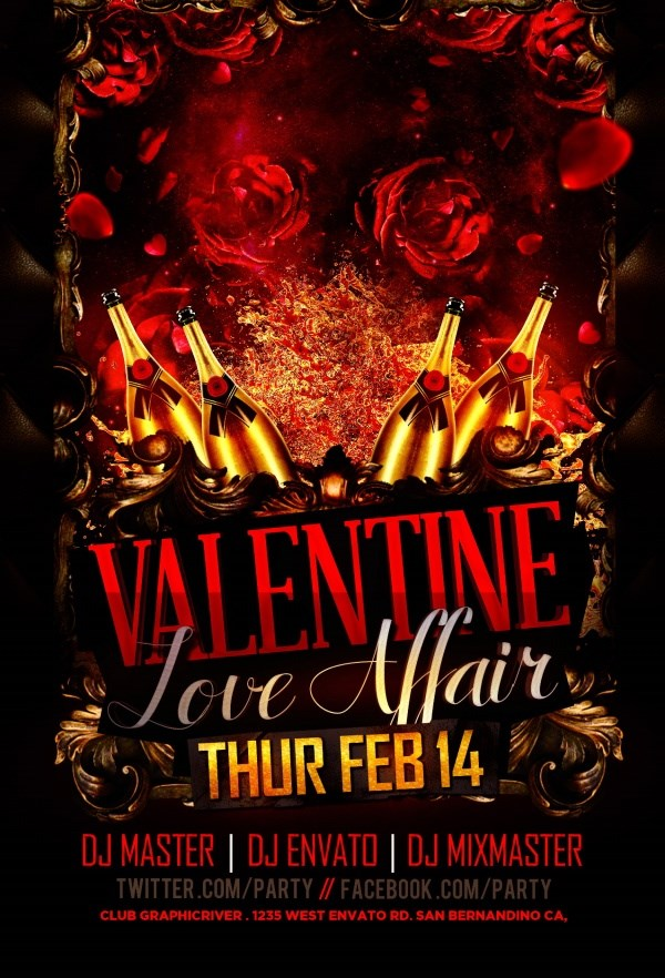 Valentine S Day Party Poster Source Files Psd Free Over Millions