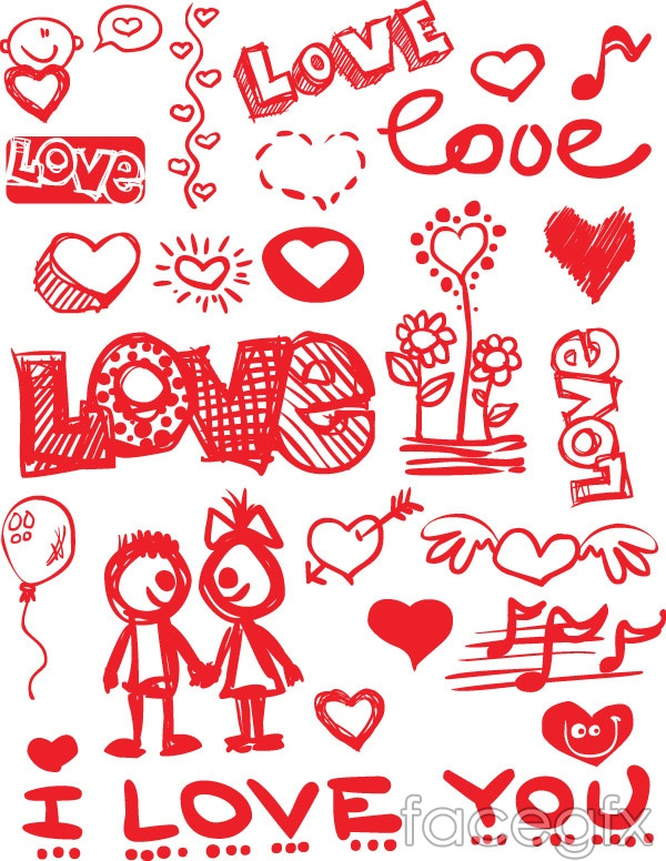 valentine's hand-painted vector – over millions vectors, stock, Powerpoint templates