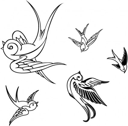 VECTOR BIRDS SPARROWS