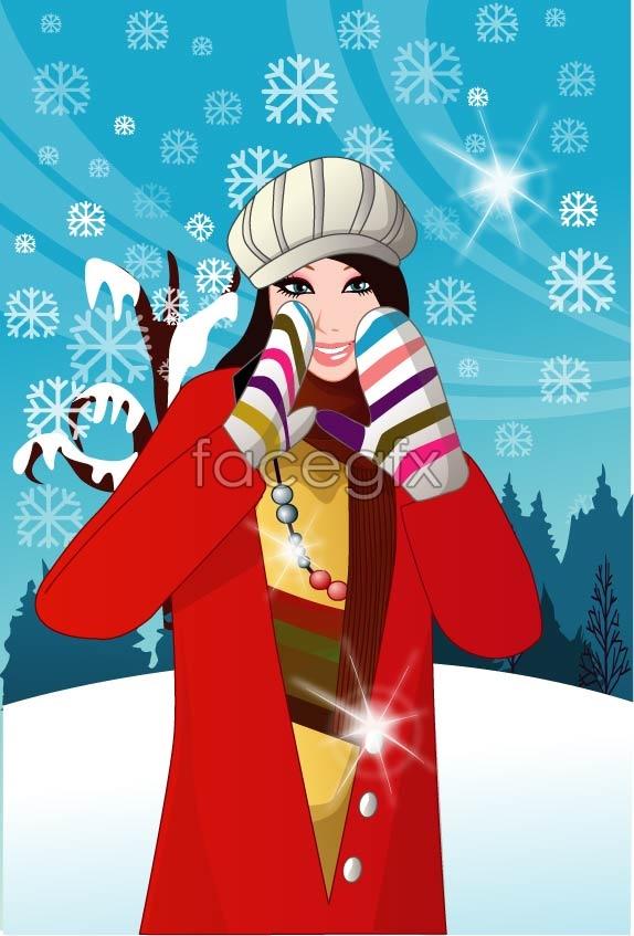 Vector winter women 6