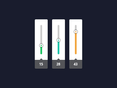 Vertical sliding bar PSD