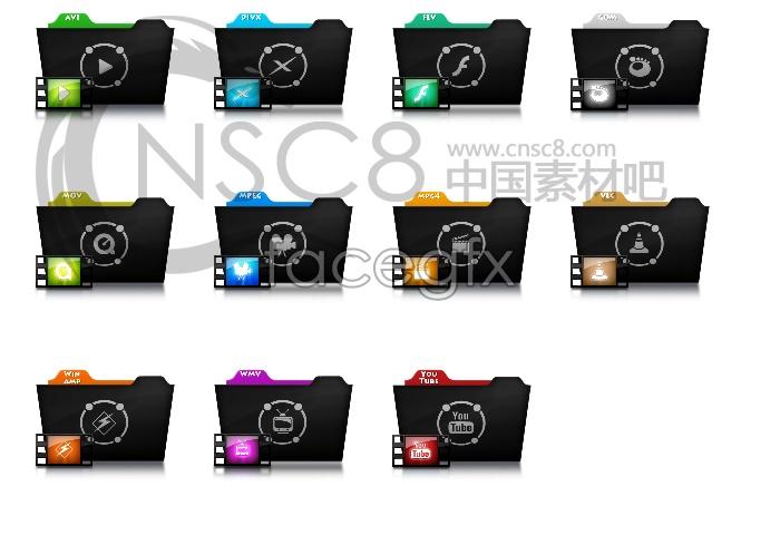 Video files desktop icons