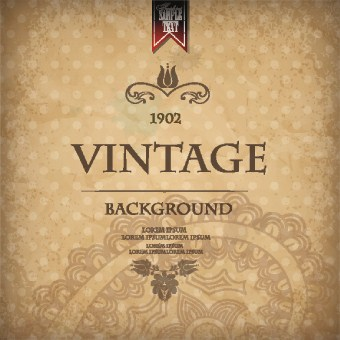 Vintage And Retro Backgrounds Design Vector 01 Over Millions