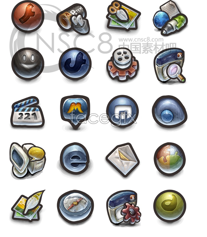 Vintage computer icons