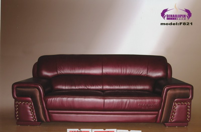 Vintage dark red leather sofa 3d model – Over millions ...