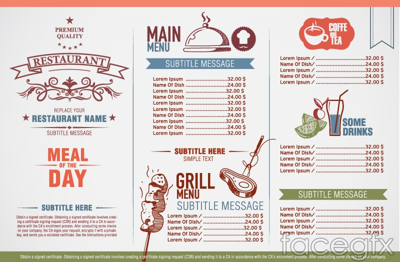 restaurant menu creator free