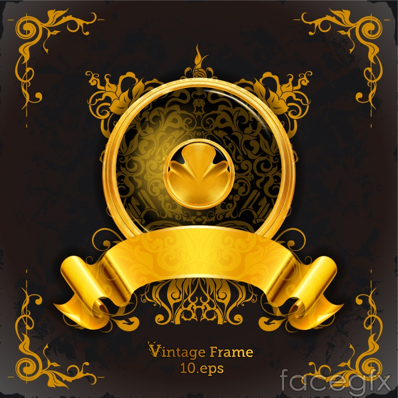 Vintage golden frame vector – Over millions vectors, stock photos ...