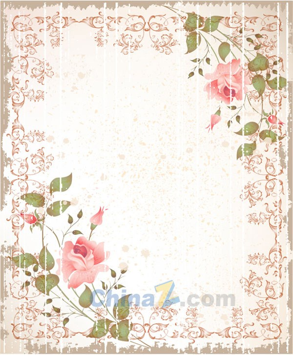 vintage rose border vectors � over millions vectors stock