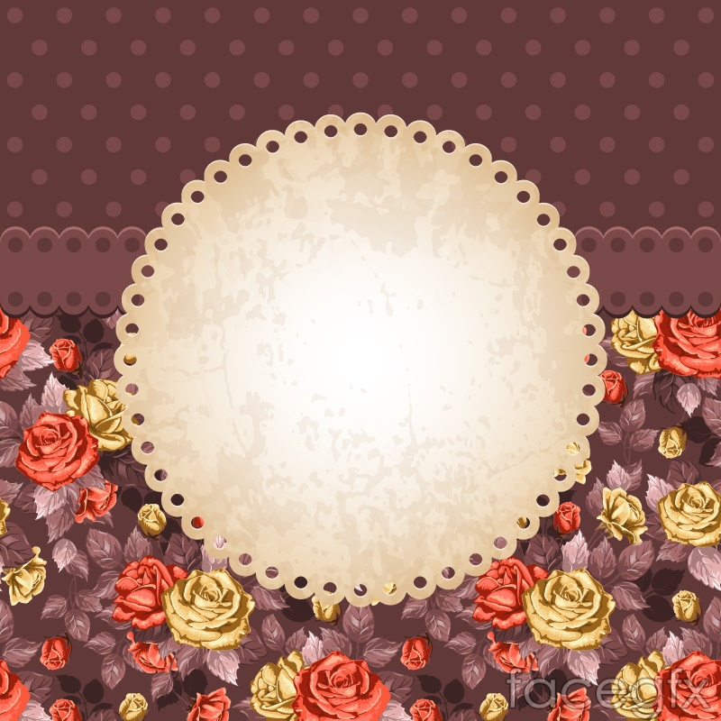 Vintage rose text background vector – Over millions ...