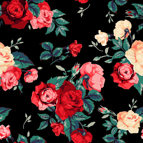 Vintage roses vector seamless pattern 02 free