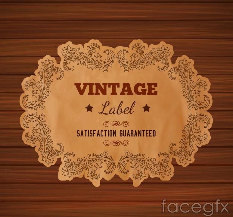 Vintage wood grain background paper label vector over millions vintage wood grain background paper label vector free download toneelgroepblik Choice Image