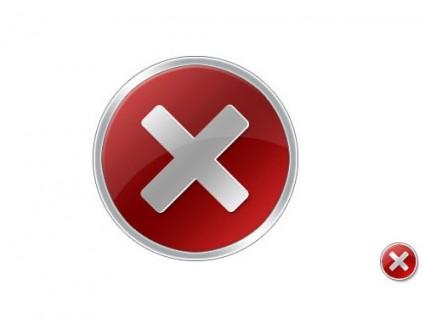 Vista Error Icon Source PSD