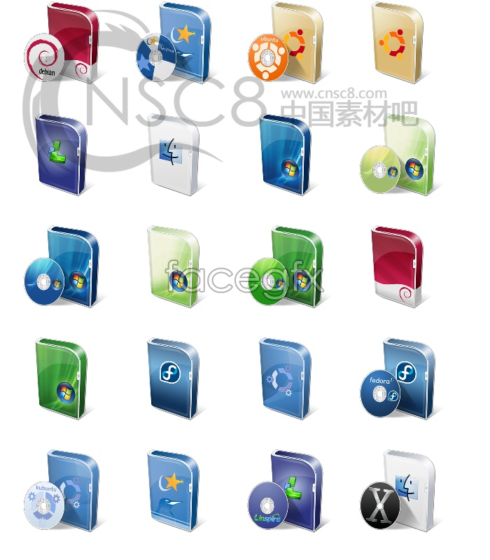 Vista packaging icons