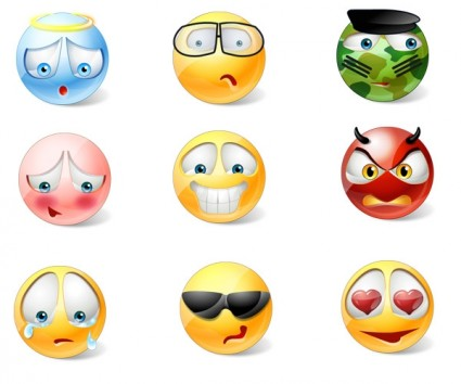Vista Style Emoticons Icons icons pack