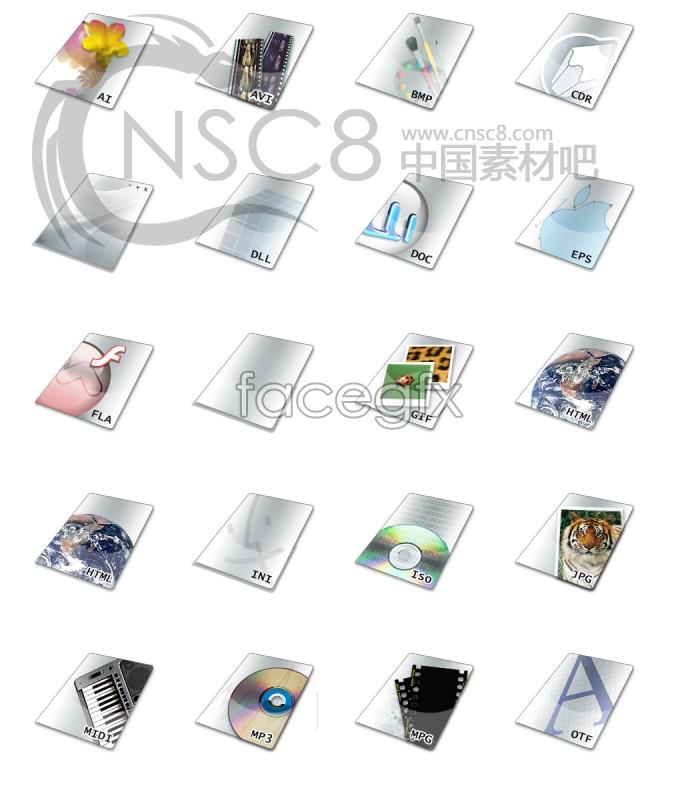 Vivid color documents icon