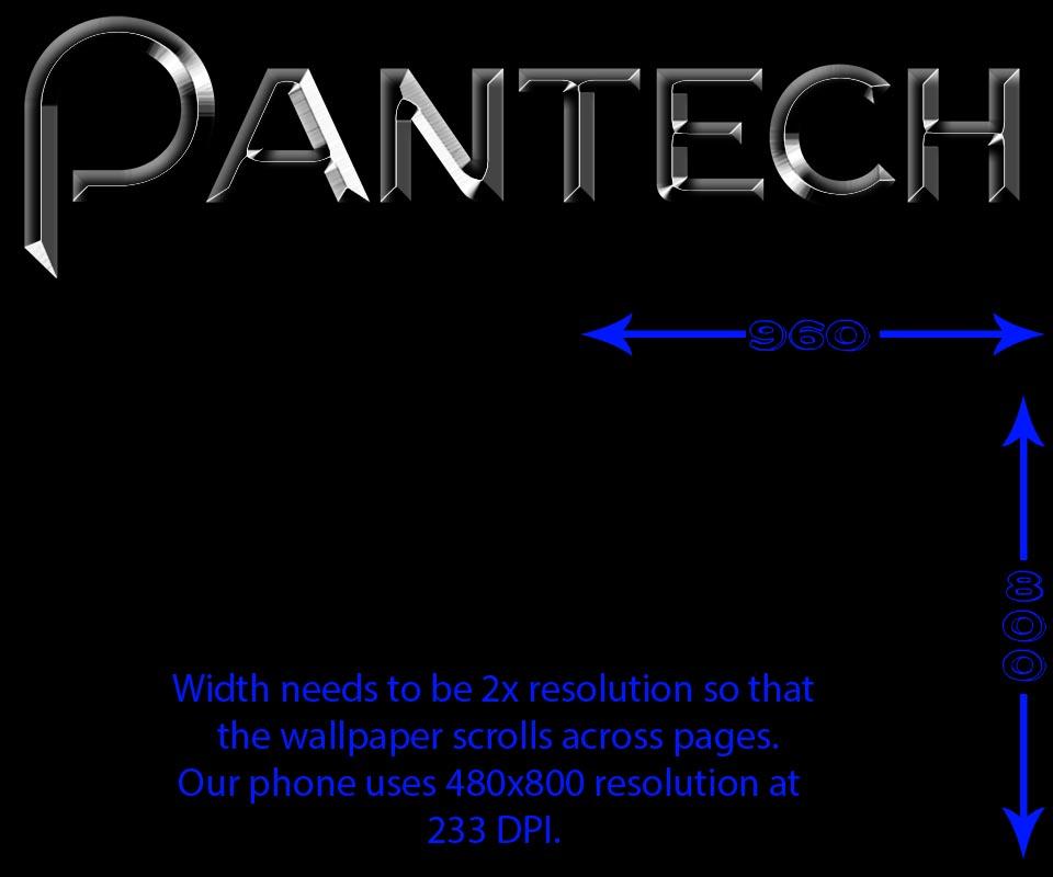 Wallpaper template for Pantech Burst/presto/p9070