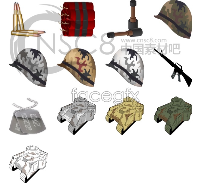 War props vector icons