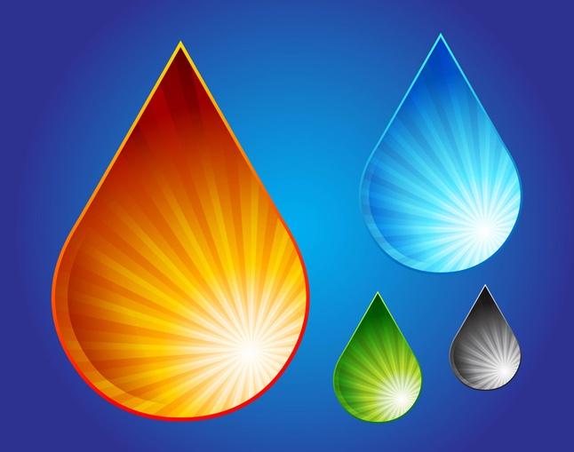 Water Drop Graphics vector free