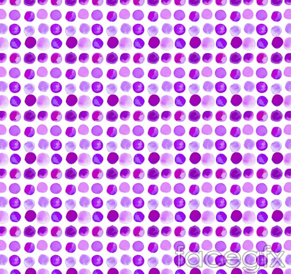 Watercolor dots seamless background vector
