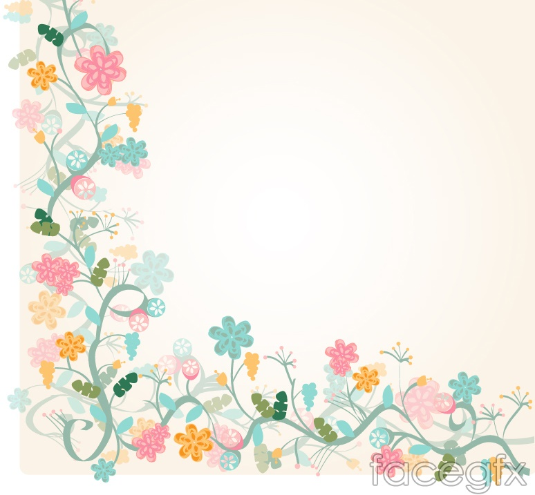 watercolor floral border background vector – over millions vectors, Modern powerpoint