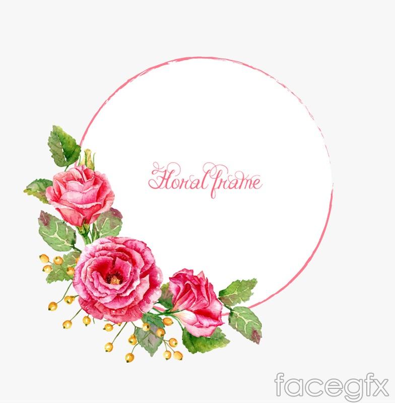 Watercolor flower frame vector – Over millions vectors, stock photos ...