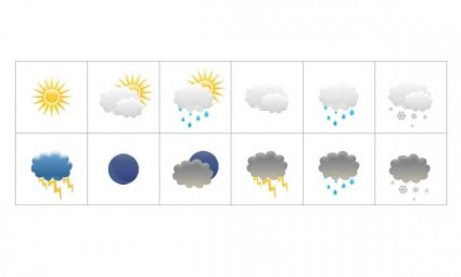 weather and climate icon psd layered