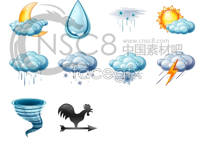 Weather forecast for computer icons