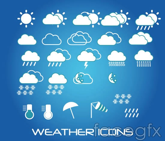 Weather forecast weather symbols vector over millions vectors weather forecast weather symbols vector toneelgroepblik Images