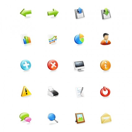 Web Application Icons Set icons pack