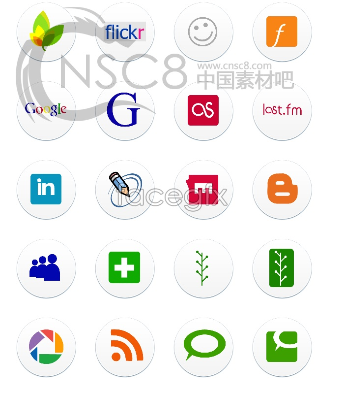 Web design logo icons
