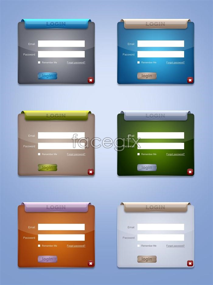 Web Page Login Psd Over Millions Vectors Stock Photos