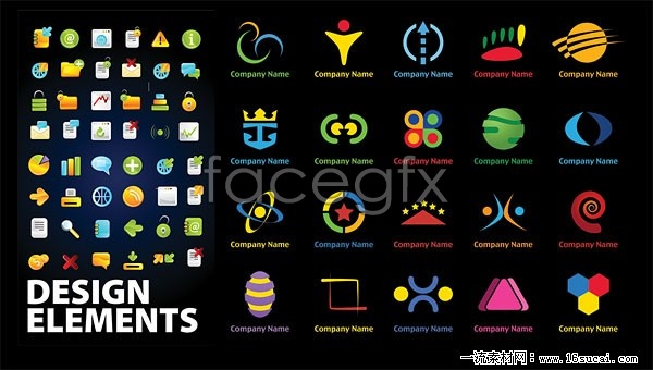 Web page logo and icon vector