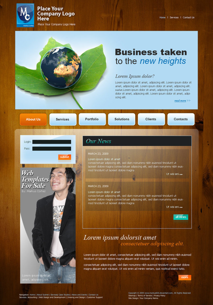 Web Template For Sale