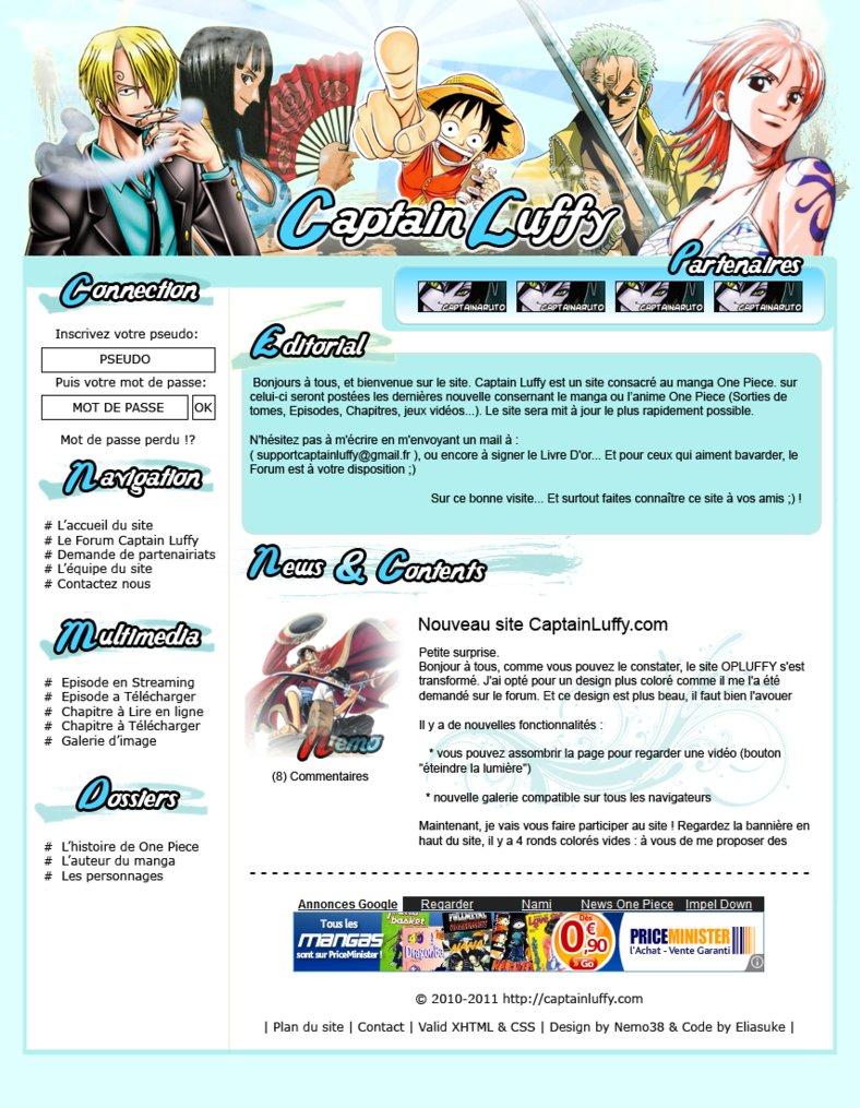 Webdesign Captain Luffy