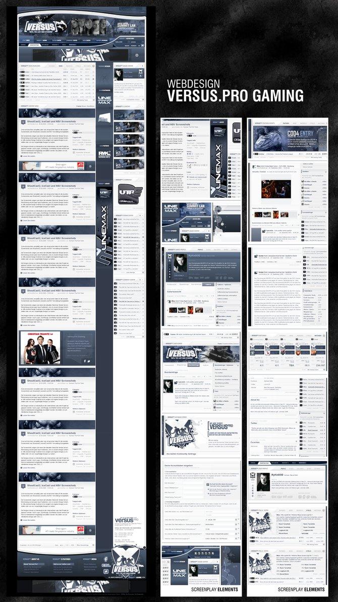 Webdesign Versus.Pro Gaming