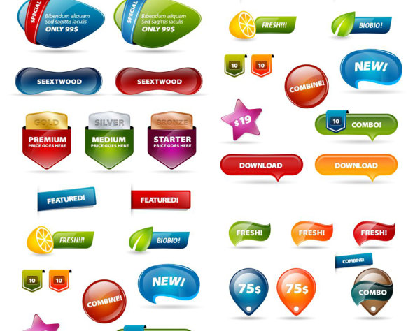 Website buttons psd – Over millions vectors, stock photos
