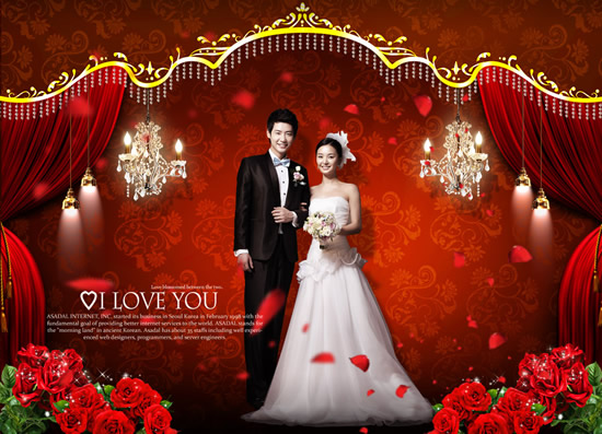 Wedding palace of love photography psd Over millions vectors