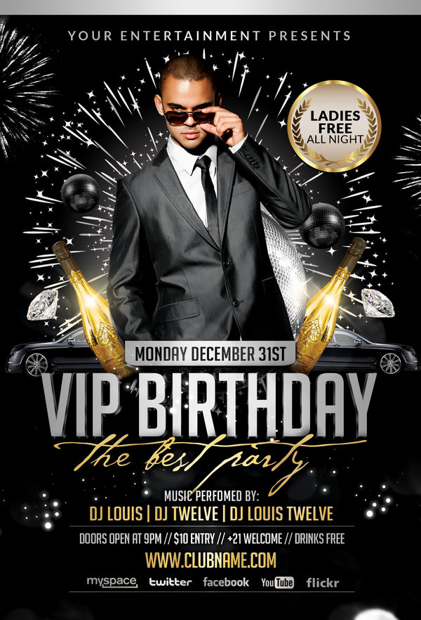 Welcome 2013 VIP Birthday | Flyer + Facebook Cover
