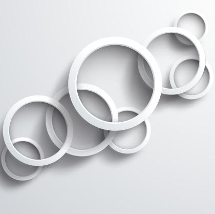 White circle background design vector 04 free